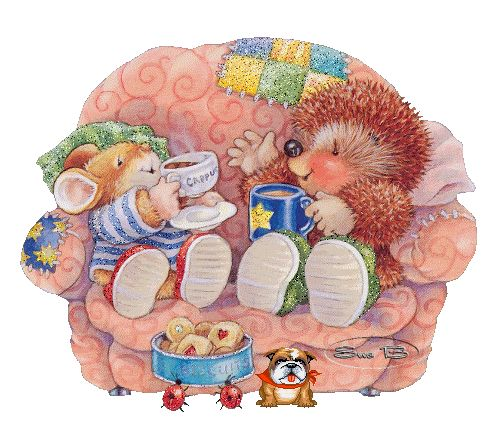 cute illustration: Country Companions by Gordon Fraser, Ed Hedgehog and Tom Mouse.