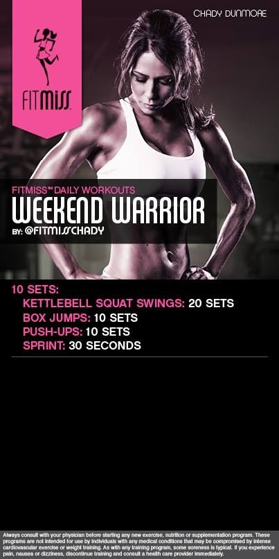 Weekend warrior workout