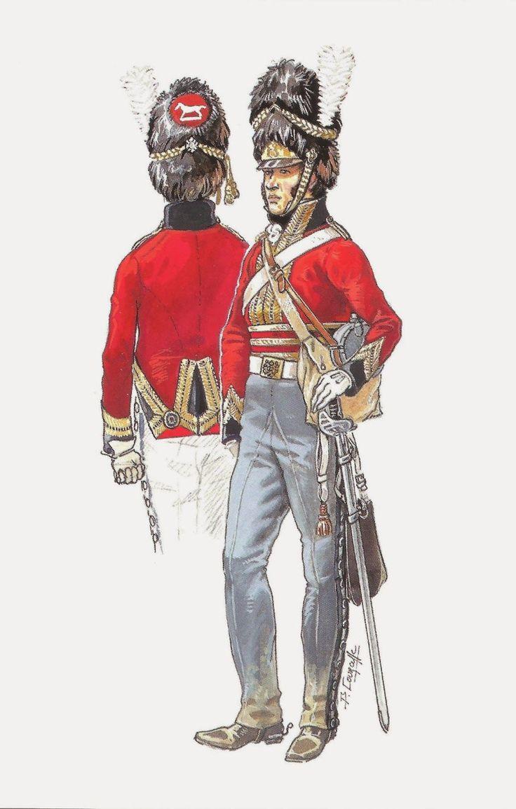 soldatini uniformi e storia militare: 2° Scots Greys Dragoons