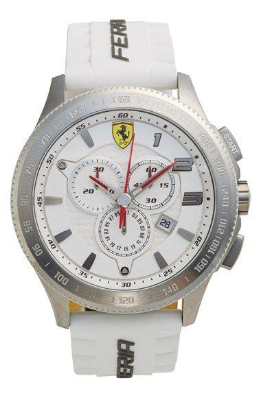 Scuderia Ferrari 'Scuderia XX' Chronograph Silicone Strap Watch, 48mm