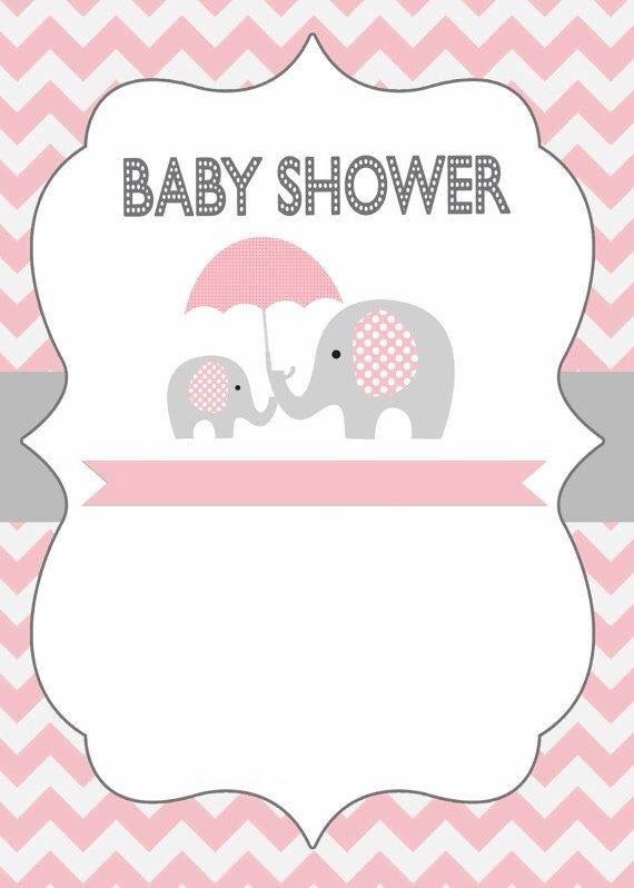 Invitación baby shower elefantitos