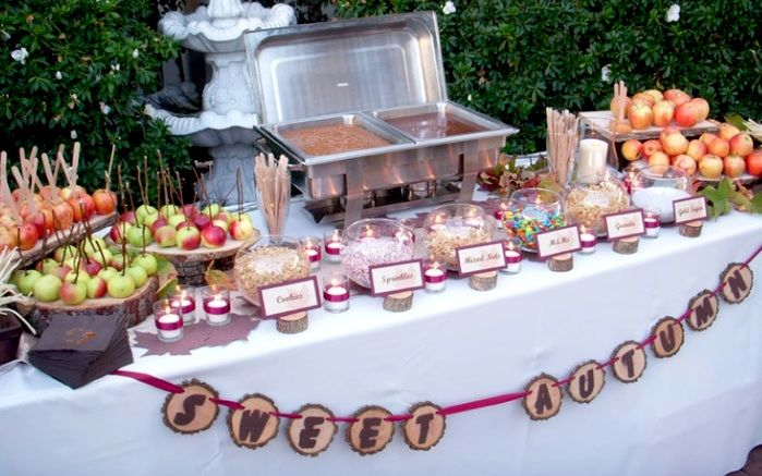 caramel apple bar party | one of the best dessert bar ideas a caramel apple bar fall is coming ...
