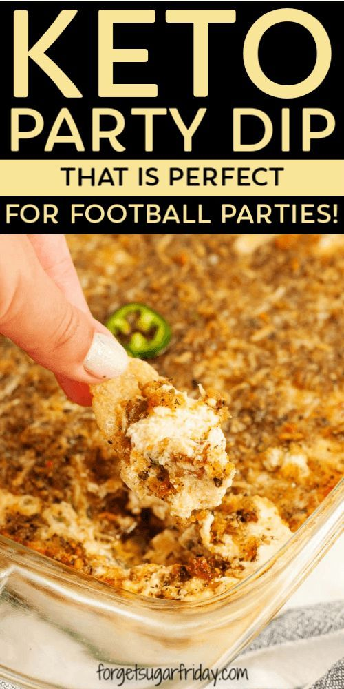 Wenn Sie auf der Suche nach einem köstlichen Keto-Party-Dip für Ihre nächste Fußballparty sind …