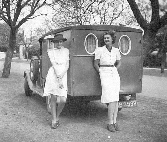 Barbara Tyrrell with her customised 1934 Chevrolet truck 'Nixie', Port Elizabeth, South Africa. Alllowed her the freedom to paint and travel. Cool camping for sure.