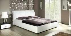 Piękne i zarazem klasyczne białe łóżko do sypialni Apollo S #łóżko #sypialnia #białełóżko http://nasze-materace.pl/lozko-tapicerowane-apollo-s.html