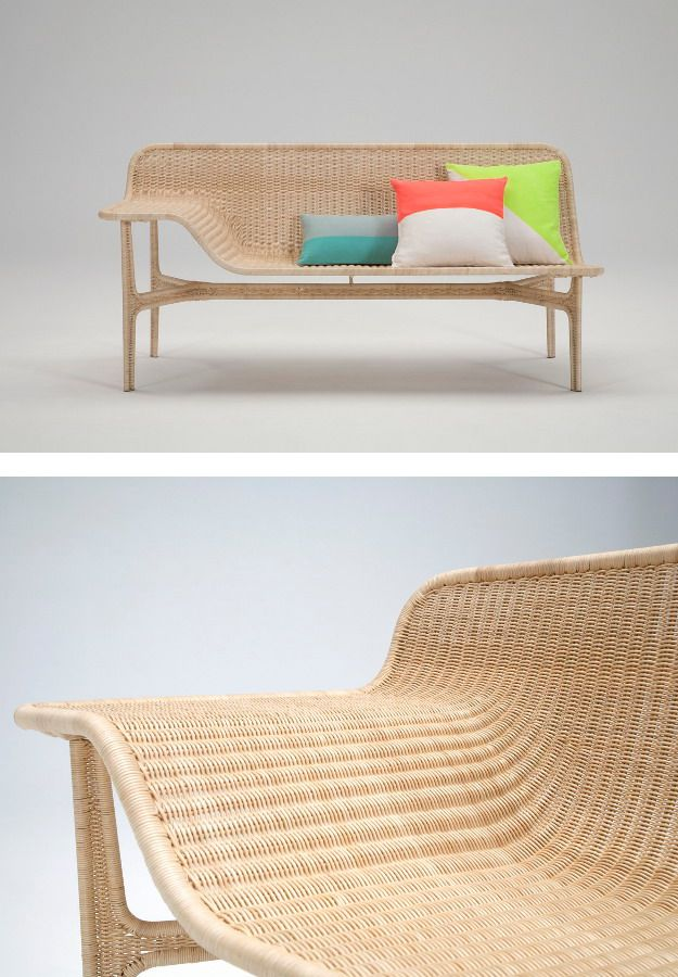 Yamakawa Rattan - blending innovation with poetry - New #rattan collection at #milandesignweek 2014