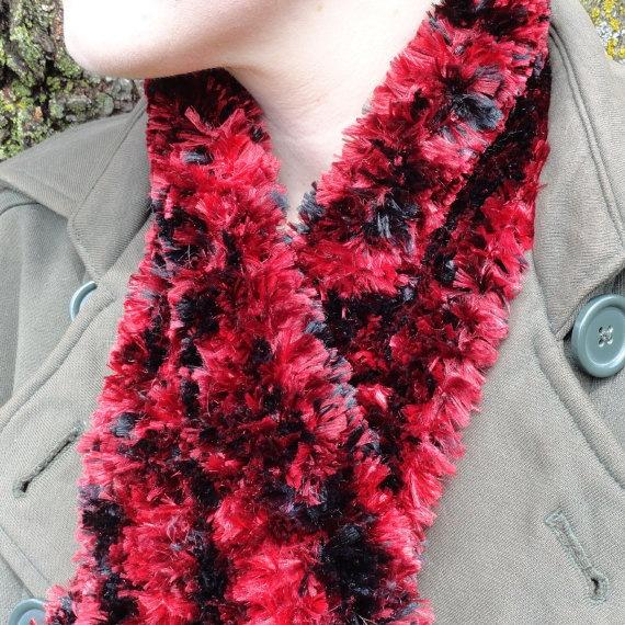 Hand Knit Cardinal Scarf by ReasonablyRustic on Etsy, $24.00