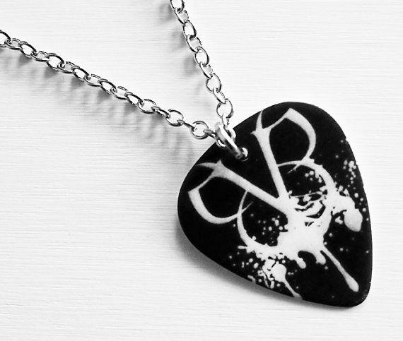 Guitar Pick Necklace Black Veil Brides Necklace  BVB by musicshop