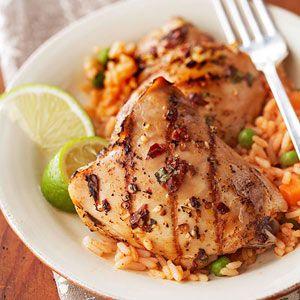 Tequila-marinadas Coxas de frango