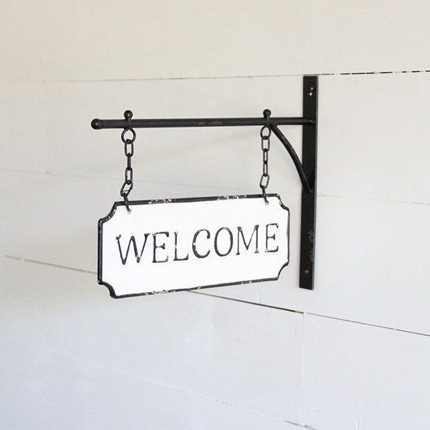 Double Sided Hanging Welcome Sign Welcome Sign Rustic Accents Signs