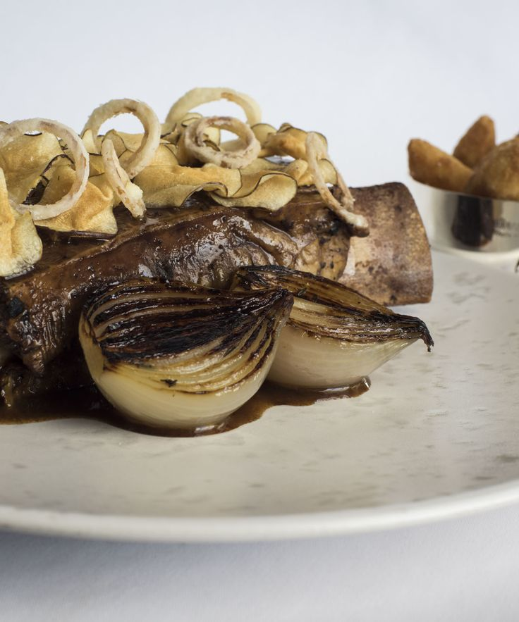 In this delicious Russell Bateman recipe, Jacob's ladder is slow-cooked in a water bath for 48 hours, resulting in wonderfully tender, melt-in-the-mouth meat. Jacob's ladder, more commonly known as short ribs, are relatively inexpensive and have a rich, meaty flavour.