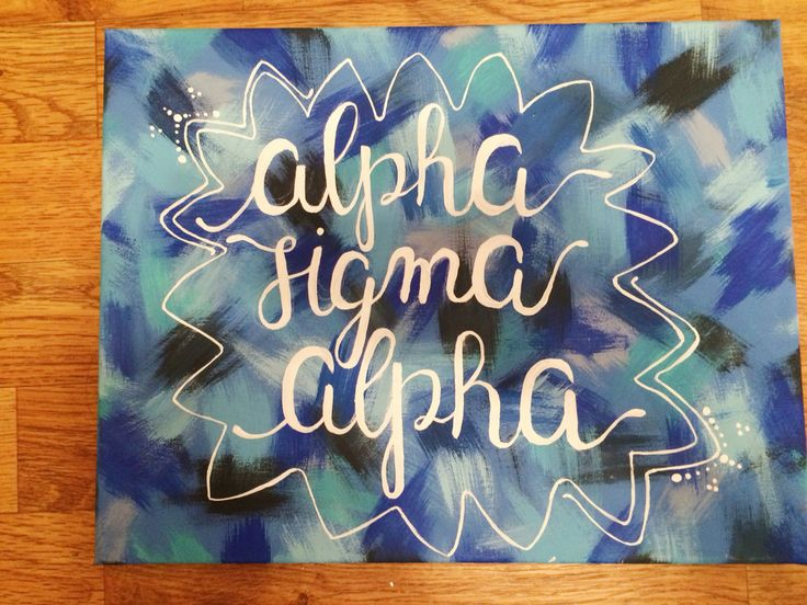Alpha sigma alpha sorority canvas