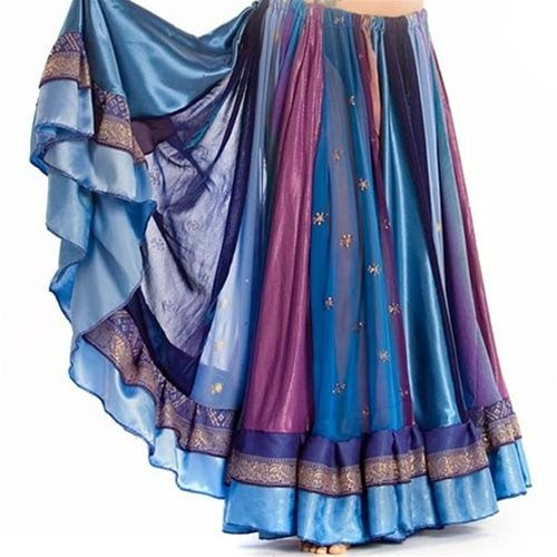 Beautiful - I want! Gypsy Skirt - Belly dance outfits | Double circle | Satin, lace fabrics