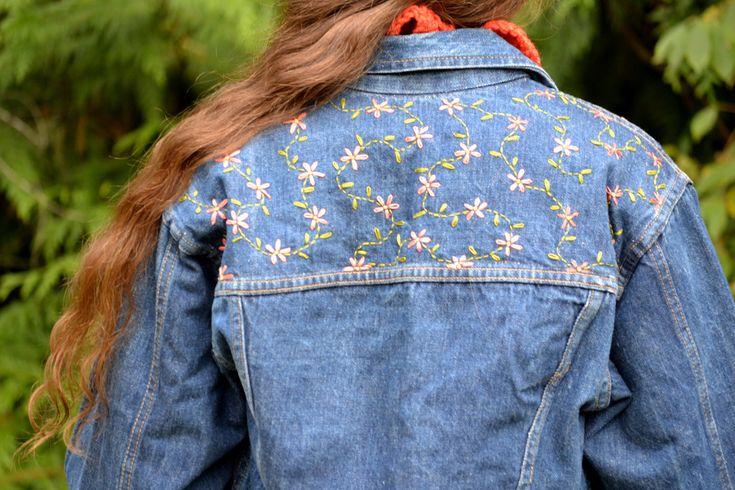 Upcycled Denim Jacket, via Etsy.