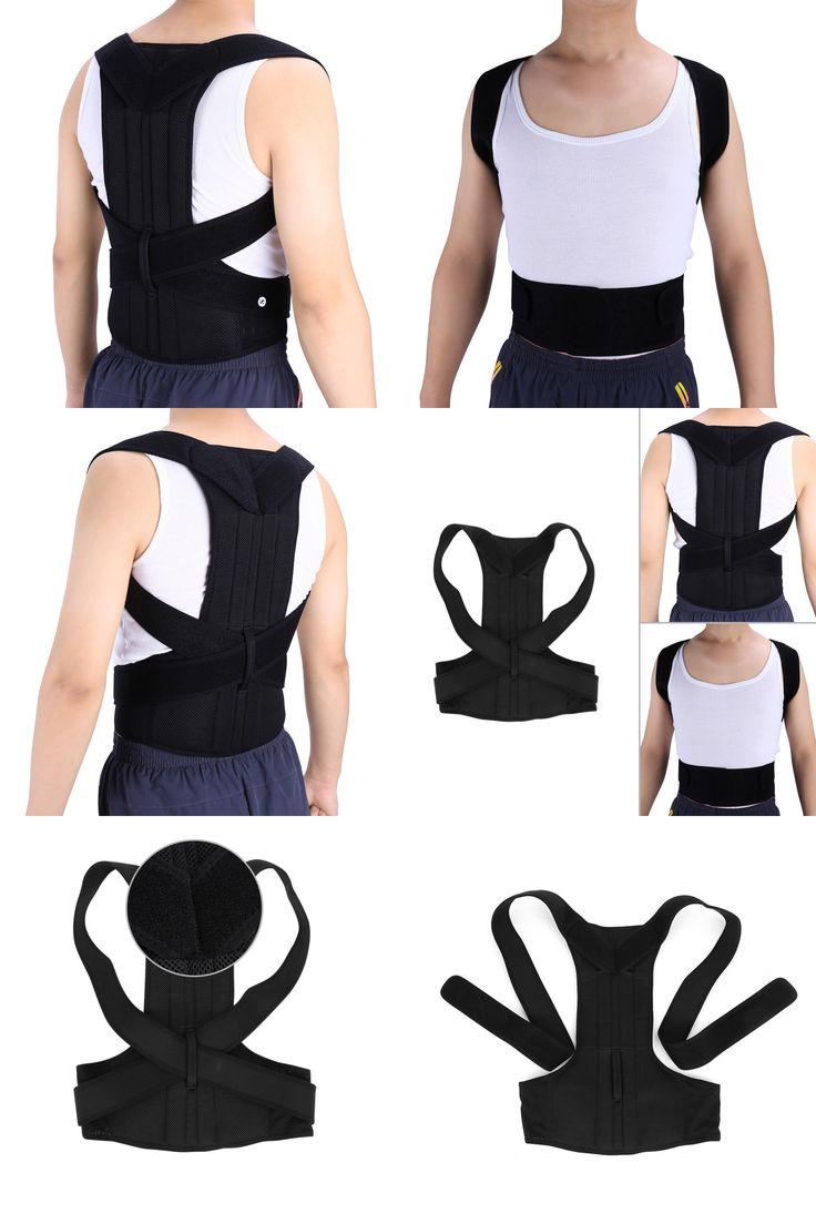[Visit to Buy] Adjustable Adult Corset Back Posture Corrector Back Shoulder Lumbar Brace Spine Support Belt Posture Correction For Men Women #Advertisement