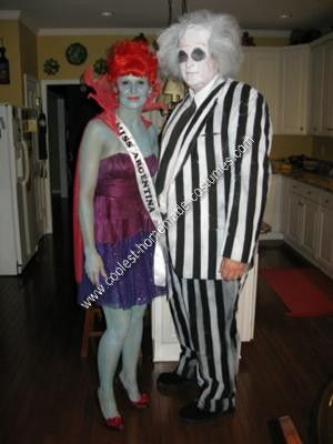 Homemade Beetlejuice and Miss Argentina Couple Halloween Costume Idea... This website is the Pinterest of costumes