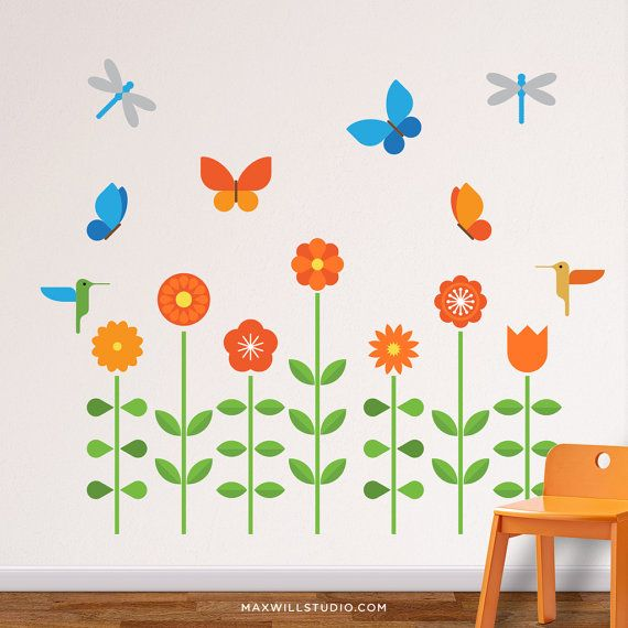 25 best ideas about flower wall decals on pinterest vintage floral flower wall stickers and floral wall art - Wall Sticker Design Ideas