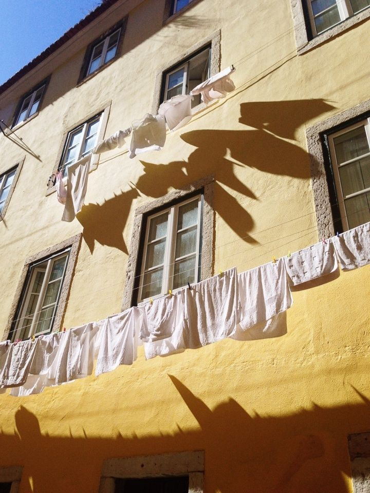 #portugal #lisbon #lisboa #shadows #dryingclothes | misterbarton | VSCO Grid™