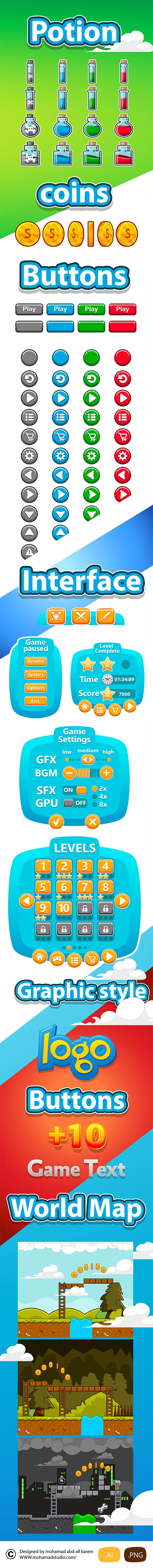 full game withe gui set for sall on Behance