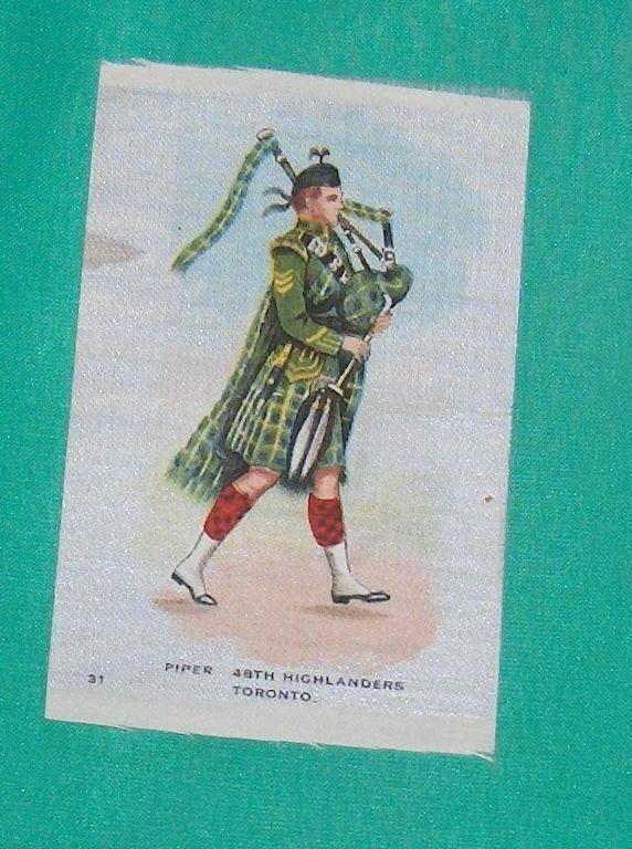 Piper 48th Highlanders Toronto Vintage Cigarette Silk Number  31