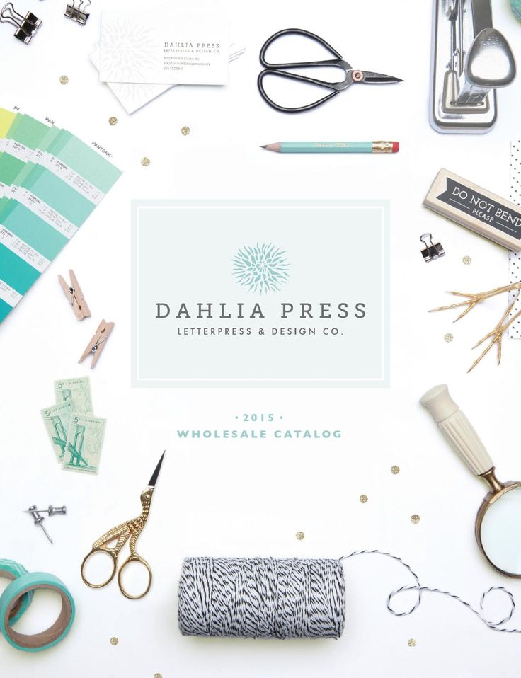 Dahlia Press - 2015 Wholesale Catalog  Dahlia Press, Letterpress & Design Co. 2015 Wholesale Catalog featuring letterpress and flat printed greetings and social stationery.