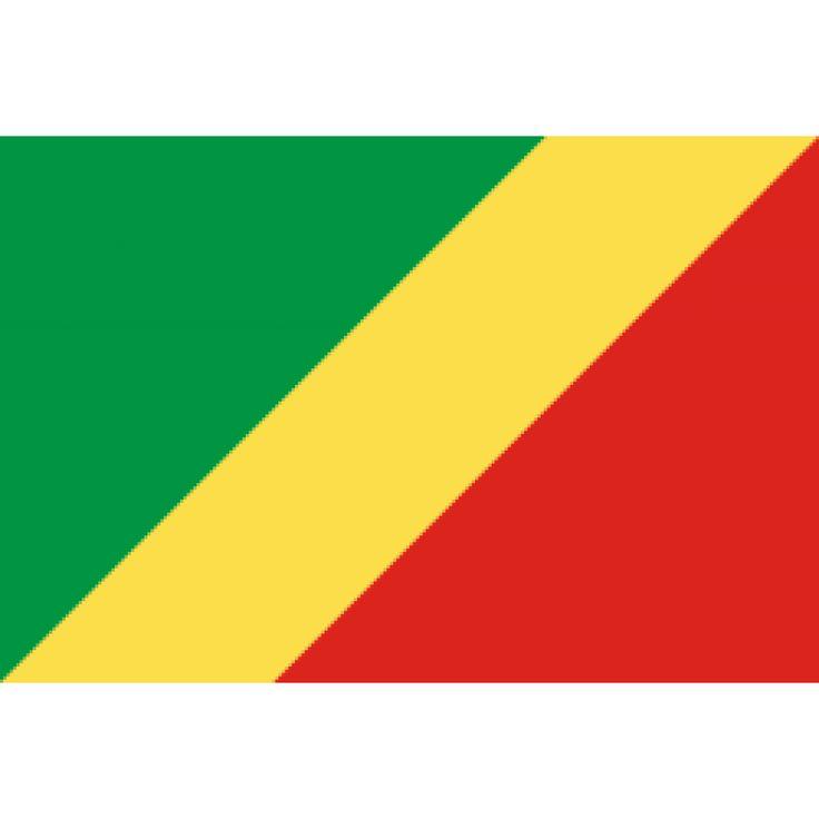 vlag Congo-Brazzaville, Congolese vlaggen 100x150cm De huidige vlag van Congo-Brazzaville is in gebruik sinds 18 augustus 1958, twee jaar voordat het land onafhankelijk werd. In 1970 werd een vlag in communistische stijl in gebruik genomen, maar op 10 juni 1991 is dit besluit teruggedraaid.  De kleuren geel, groen en rood worden gezien als 'Afrikaanse' kleuren.