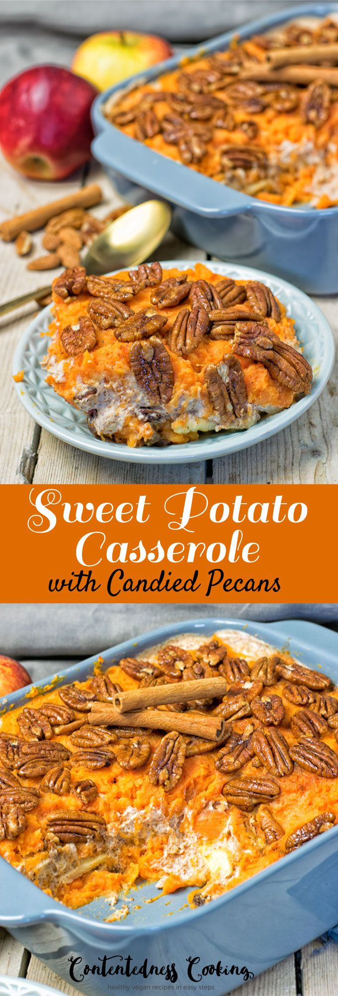 Sweet Potato Casserole | #vegan #clutenfree #contentednesscooking