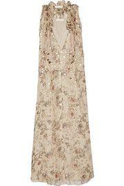 ChloéFloral-print fil coupé silk-blend georgette maxi dress