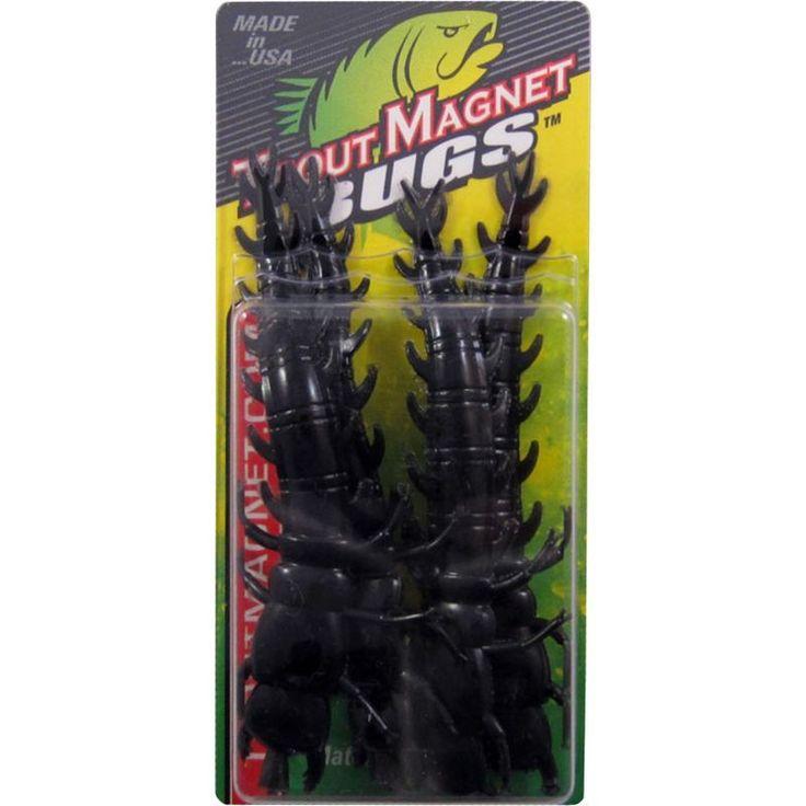 Leland's Trout Magnet Helgrammite Soft Baits, Black