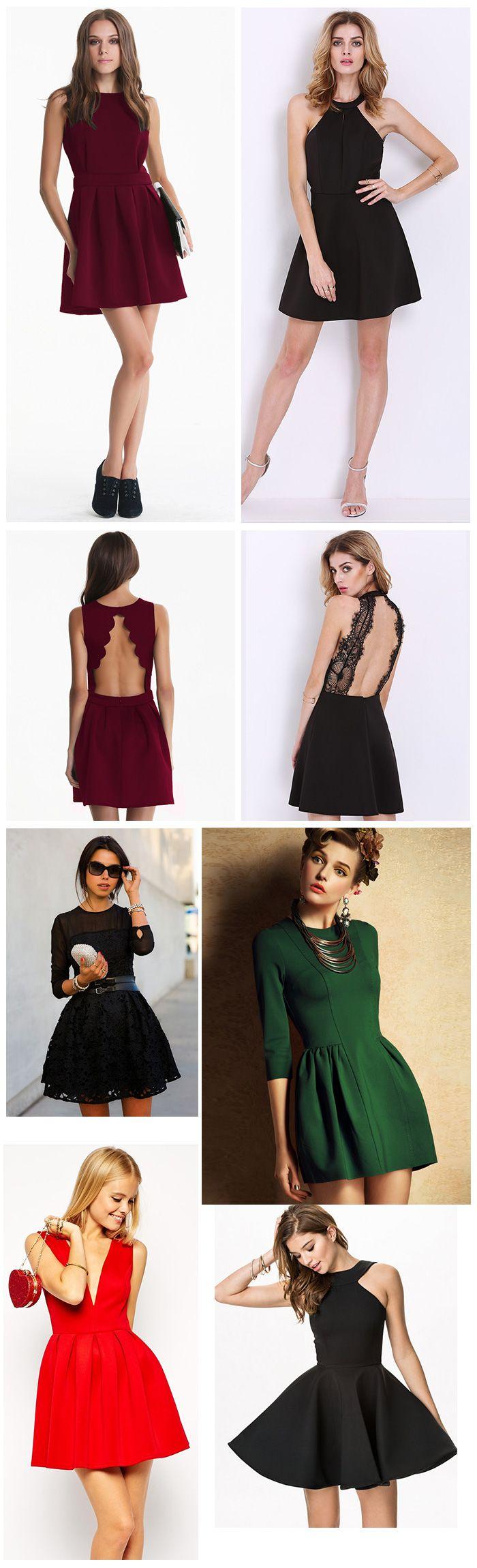 A Line Flare Dresses, Women Slim Styles