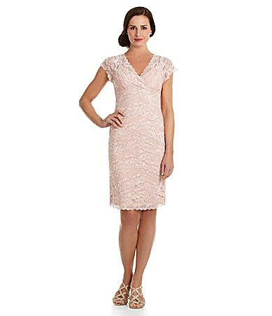 Marina Beaded Lace Dress #Dillards