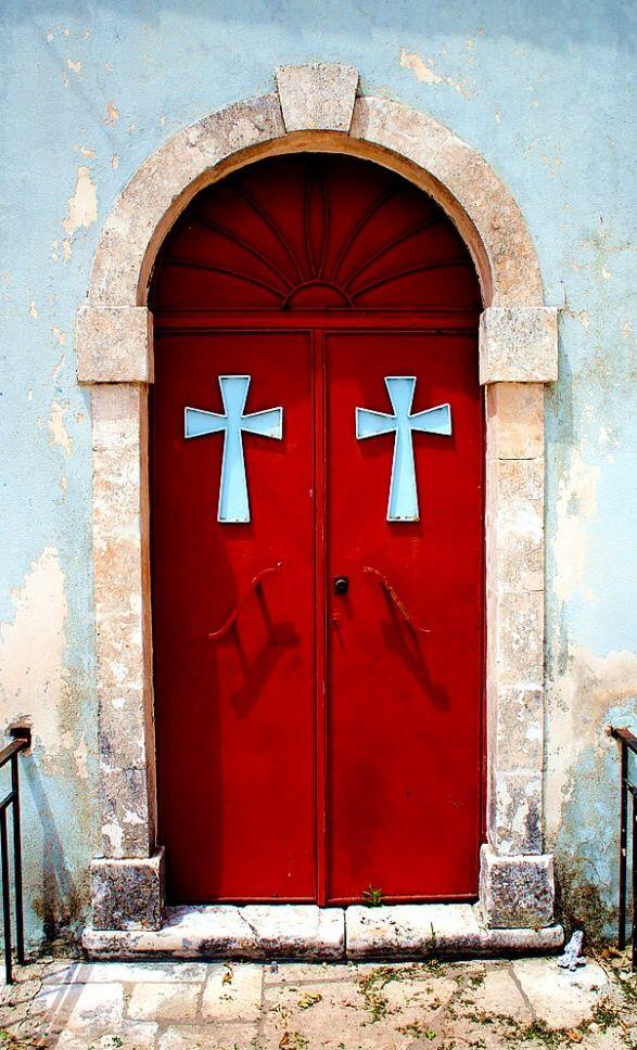 Zakynthos, Greece………WELL, THE CROSSES ARE BLUE…………ccp
