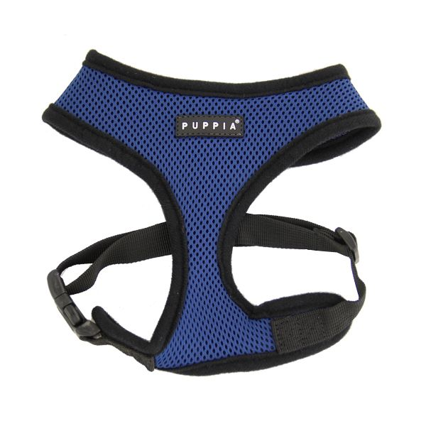 Basic Soft Harness by Puppia - Royal Blue - https://barkavenuebycucciolini.ca/product/basic-soft-harness-by-puppia-royal-blue/