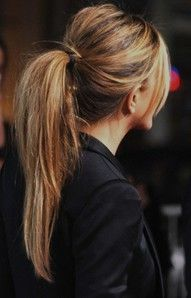 HairstylesHairstyles, Messy Ponytail, Hair Colors, Jennifer Aniston, Long Hair, Hair Style, Pony Tails, Long Ponytail, Ponies Tail