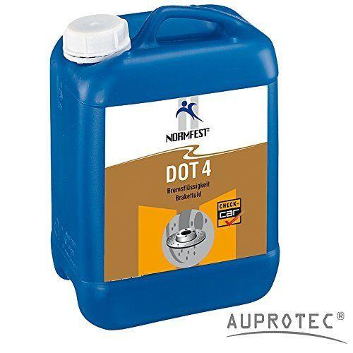 Auprotec® DOT4 Brake Fluid Bidon de 5L de liquide de frein Adapté aux systèmes ABS et ESP Conforme aux normes de sécurité: Cet article…