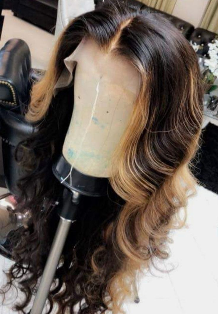 Ombre Color 1B/30 Wavy 13x4 Lace Front Wig with Highlight