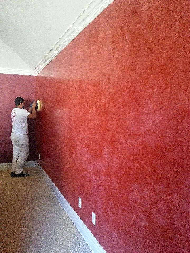 Red Meoded Stucco Lamundo Applied By Jlcs Luxury Interiors