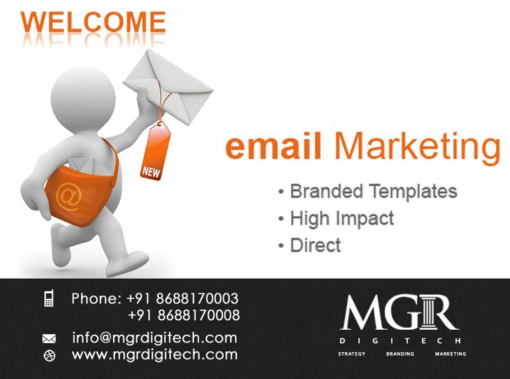 """EMAIL MARKETING : """"Email Marketing has an ability many  channels don't: creating valuable personal  touches-at scale."""" MGR DIGITECH provides Email Marketing Services. For more details please contact us: Contact details Phone: +91 8688170003, +91 8688170008 Email-Id:info@mgrdigitech.com Website :www.mgrdigitech.com #MGR,#MGRDigitech,#Digital,#OnlineSales,#DigitalSolutions,#EmailMarketing"""