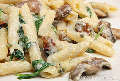 ... Chicken Rigatoni with Marsala Wine-Cream Sauce, Spinach, and Mushrooms