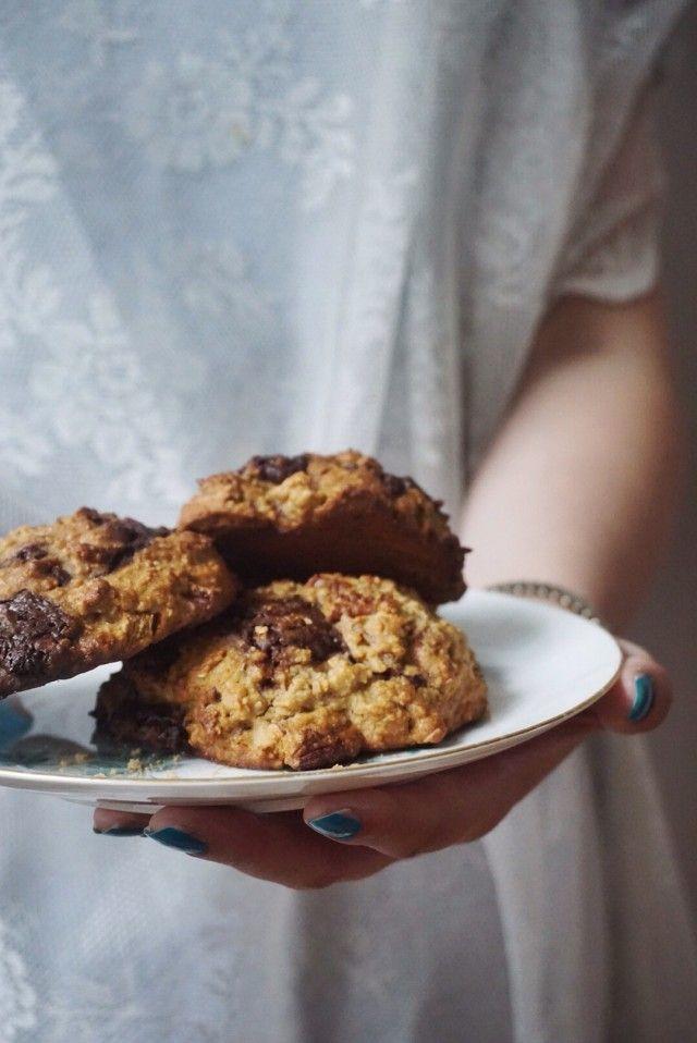 Fair cookies met verse gember, chocolade en pecan