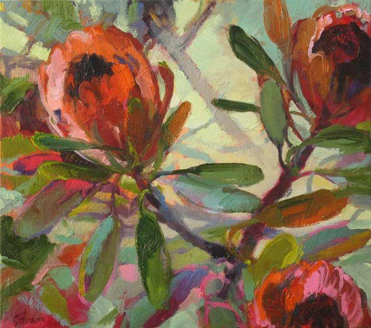 Protea Trio by Jenny Parsons