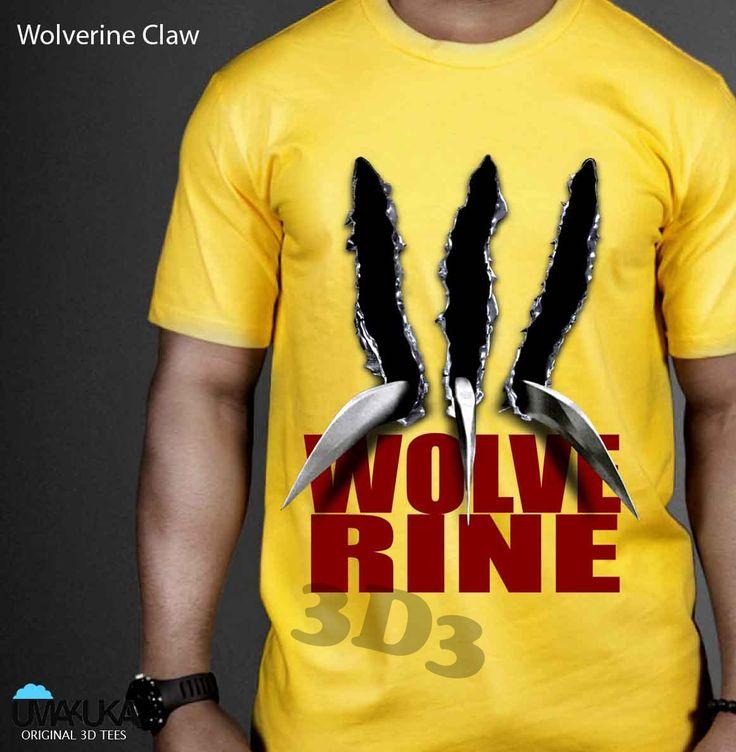 Kode: Wolverine Claw - bahan cotton combed 24s - sablon DTG (sablon masuk ke serat kain) - Pilihan warna: bisa semua warna kaos - preorder - Tersedia ukuran baby, kids, male, female - Tersedia untuk lengan panjang, lengan raglan, lengan pendek . Pemesanan hubungi: - SMS/ WA: 08990303646 - BBM: D3BCEDC3