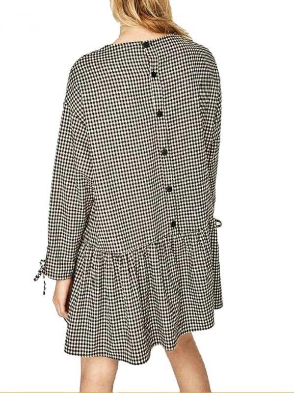 Vestido Casual Xadrez Vichy - Compre Online   DMS Boutique