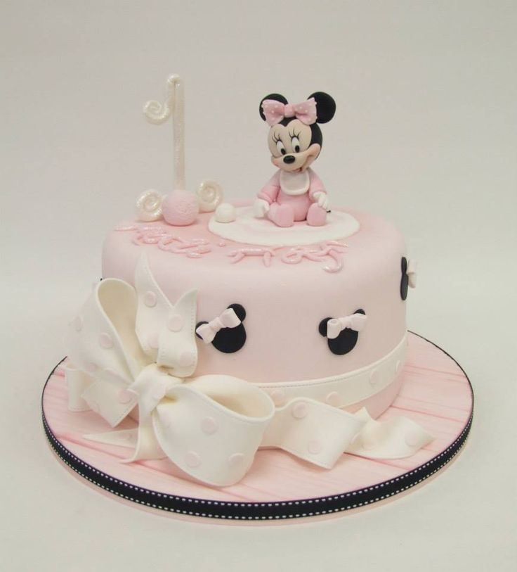 Minnie Mouse cake.                                                                                                                                                                                 More