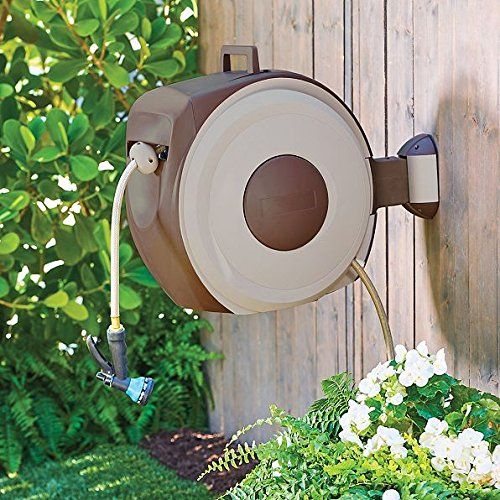 Outdoor Wall Mount Retractable Garden Hose Reel With Auto... https://www.amazon.com/dp/B071V4D1JV/ref=cm_sw_r_pi_awdb_x_r0xyzb4VE4XMV