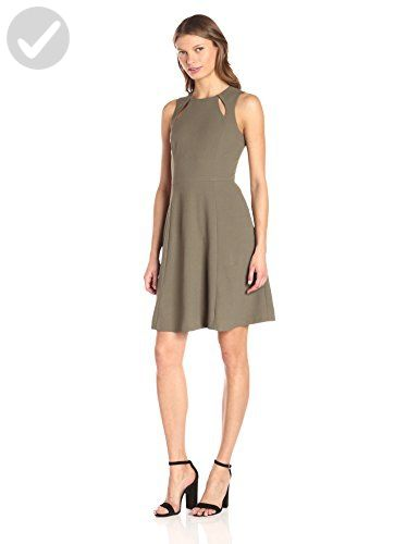 Catherine Catherine Malandrino Women's Bird Dress, Jungle Drab, 12 - All about women (*Amazon Partner-Link)