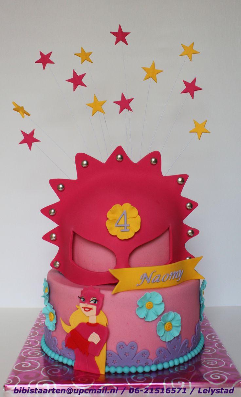Megamindy Cake , Mega mindy taart , Masker Taart