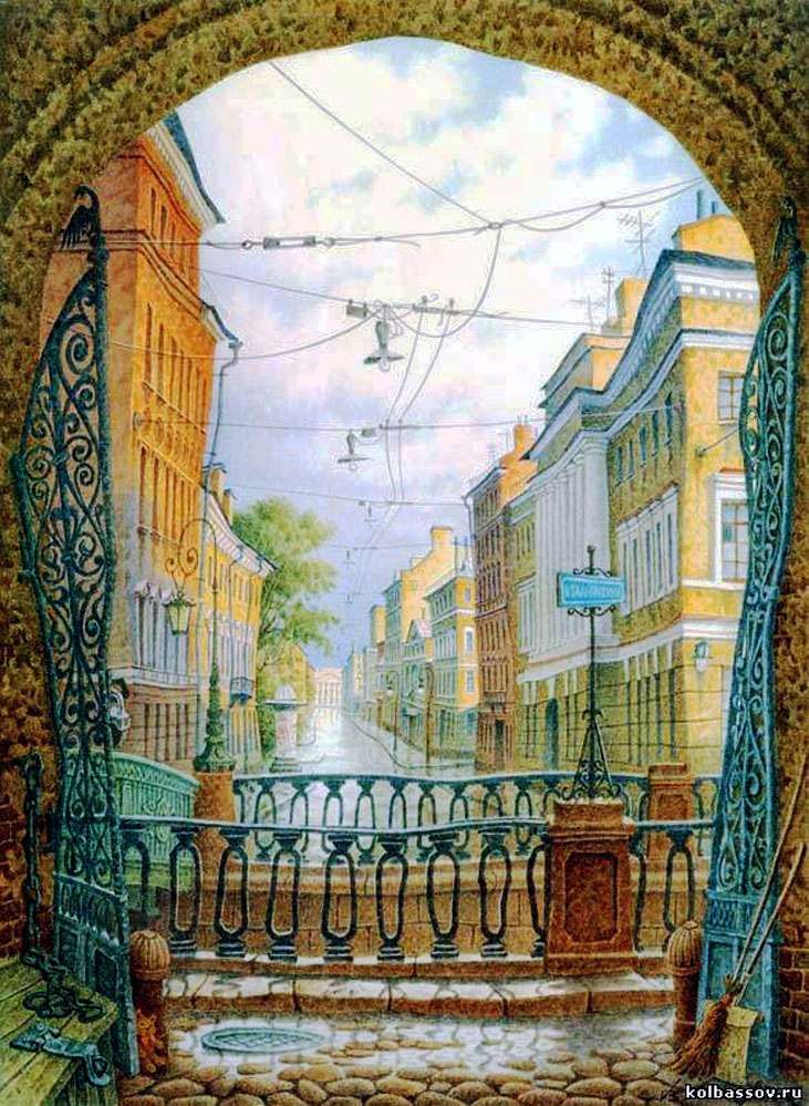 """St. Petersburg"" — Vladimir Kolbasov, watercolor"