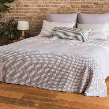 Tagesdecke Irun, Baumwolle, Grau, 275x265 cm