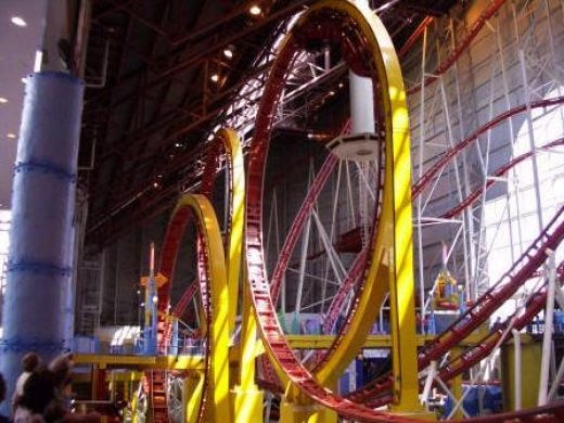 Edmonton, Canada - Edmonton Mall, went on this 4 times with my mom, scarier than it looks.